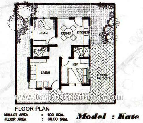Floor-Plan-low-cost-housing-in-Buhangin-Davao-KATE-2-Bedrooms-2-TB-at-The-Prestige-Subdivision-Cabantian-Buhangin