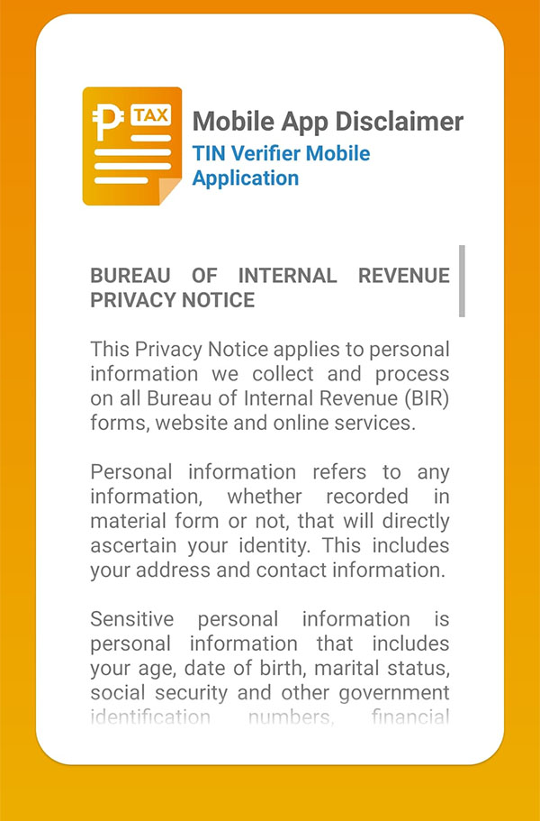3-How to get BIR TIN VERIFICATION IN THE PHILIPPINES using mobile App