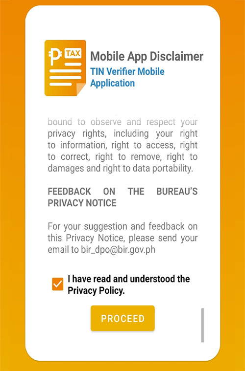 4-How to get BIR TIN VERIFICATION IN THE PHILIPPINES using mobile App