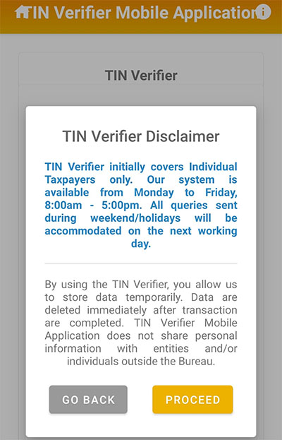 6-How to get BIR TIN VERIFICATION IN THE PHILIPPINES using mobile App