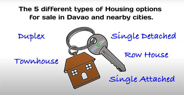 5 different housing types in Davao